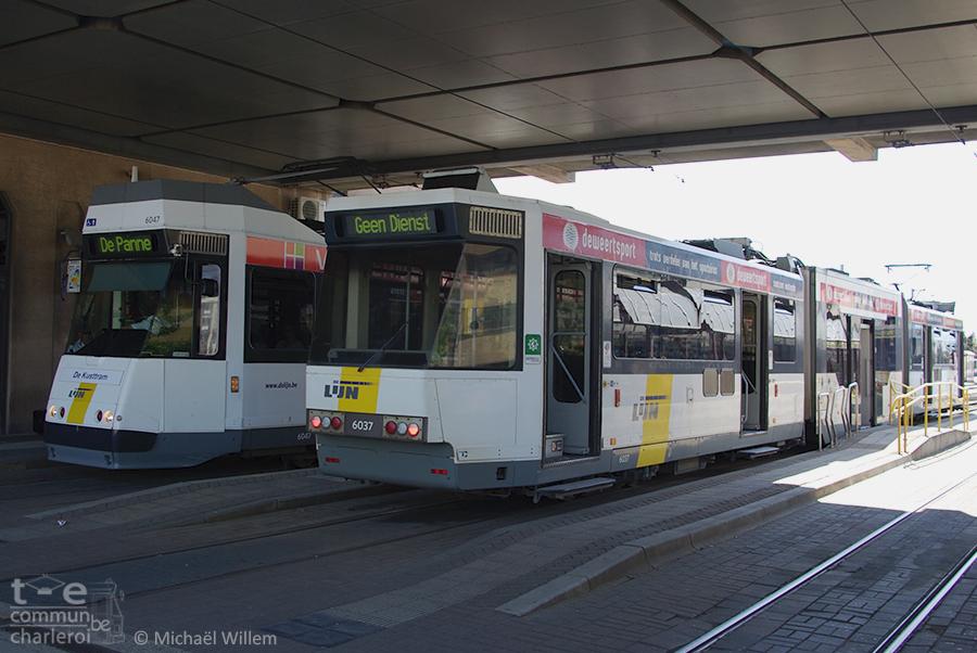 2 BN à Ostende gare, l'une poste A, l'autre poste B -  mai 2012