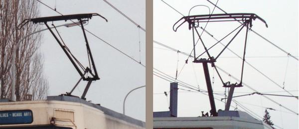 Les 2 types de pantographe